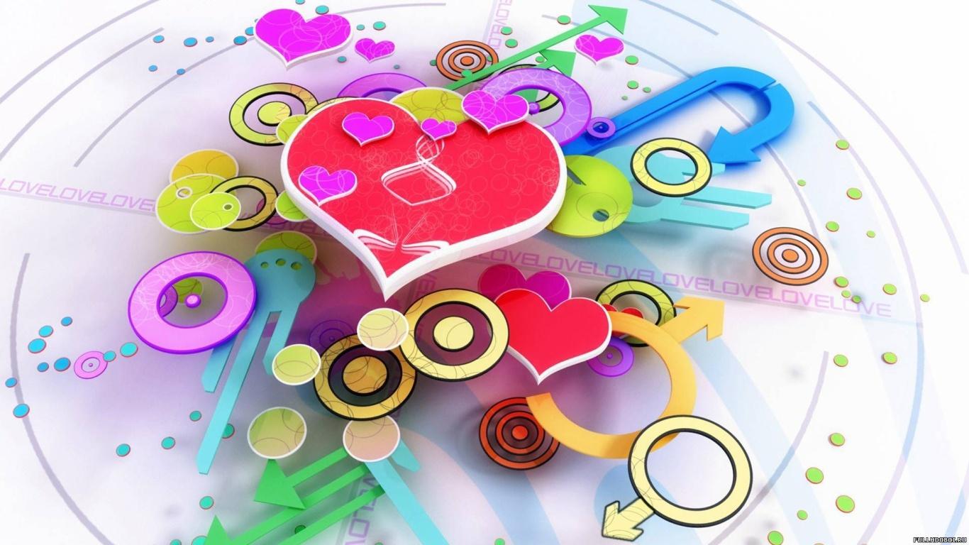 Сердечные часы на День Святого Валентина 14 февраля - С днем Святого Валентина поздравительные картинки