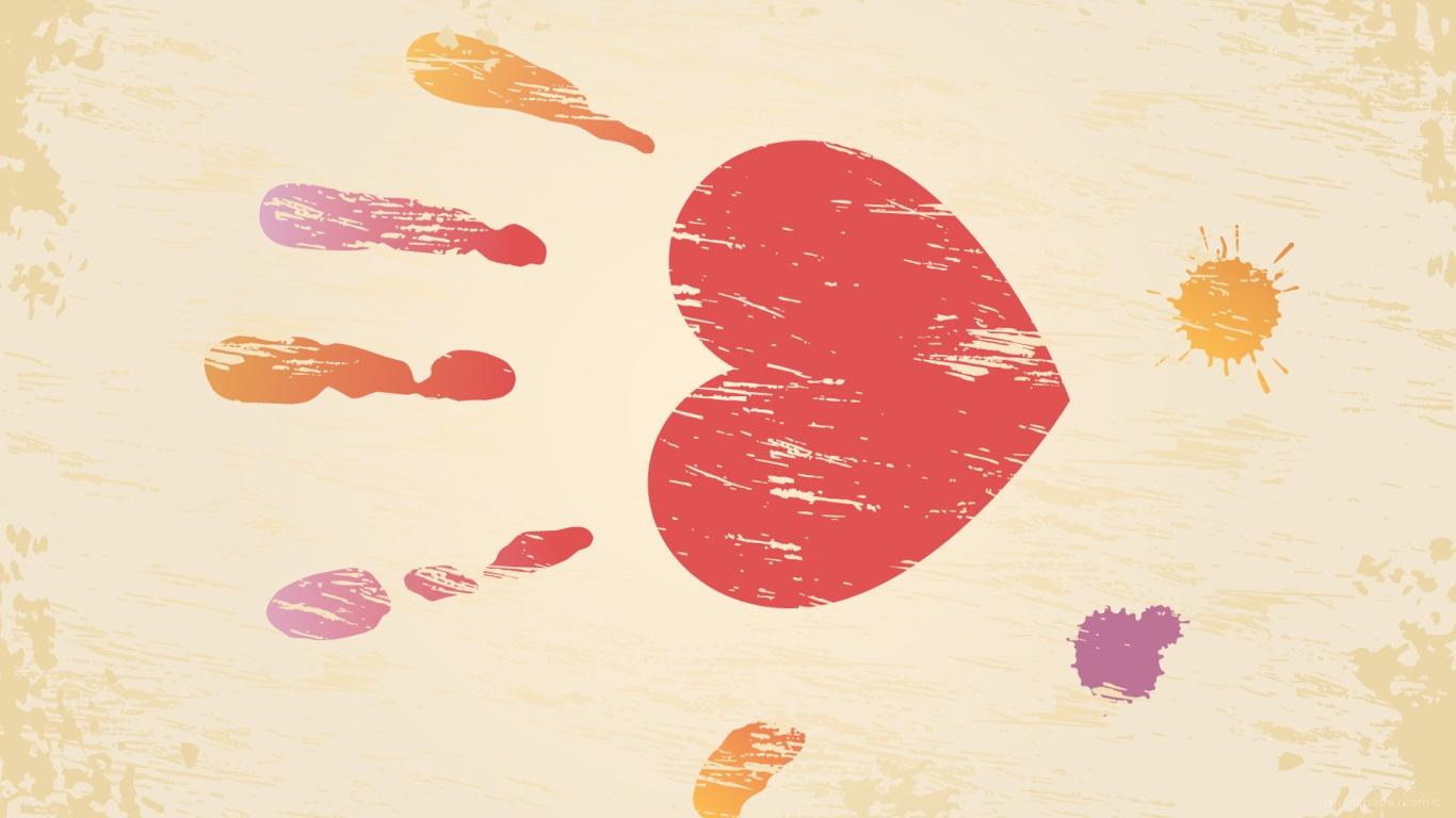 Сердце ладонь на День Святого Валентина 14 февраля - С днем Святого Валентина поздравительные картинки