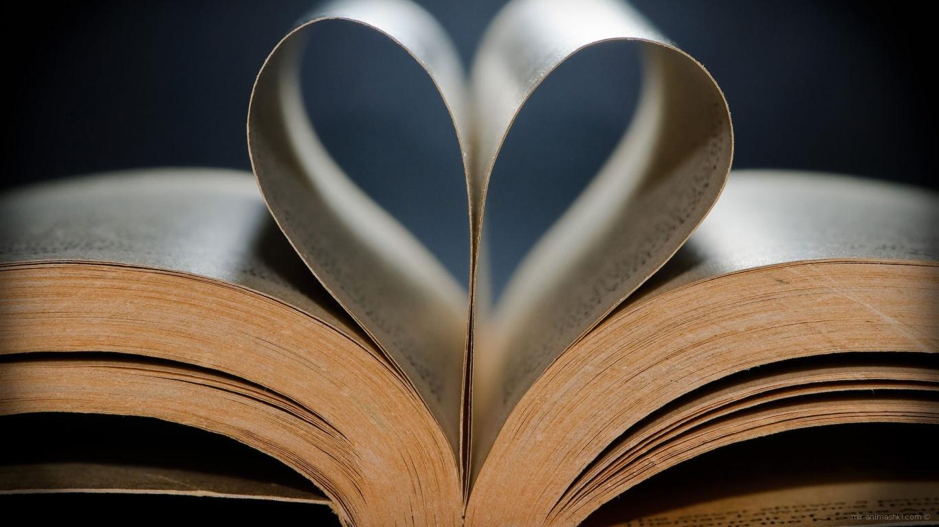 Сердце из книги на День Святого Валентина 14 февраля - С днем Святого Валентина поздравительные картинки