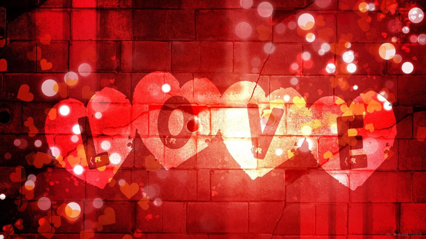 Открытка, картинки для контакта на стену с надписями красивые про любовь