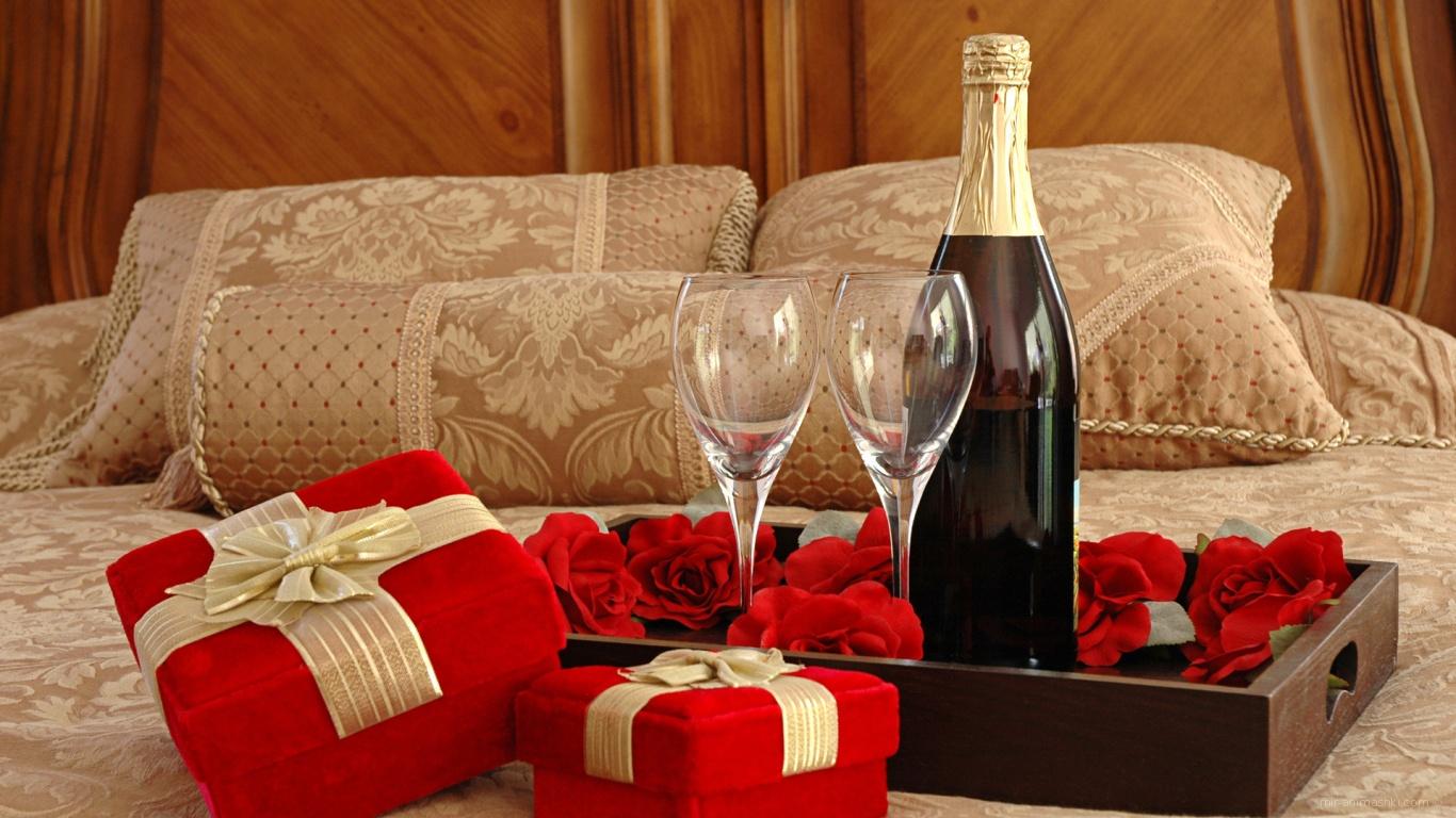 Романтический ужин на День Влюбленных 14 февраля - С днем Святого Валентина поздравительные картинки