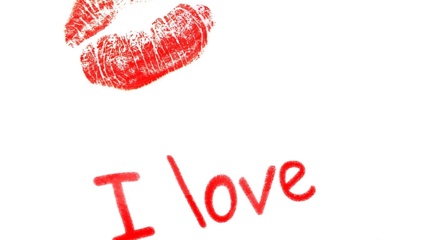 Поцелуй с любовью на День Влюбленных 14 февраля - С днем Святого Валентина поздравительные картинки