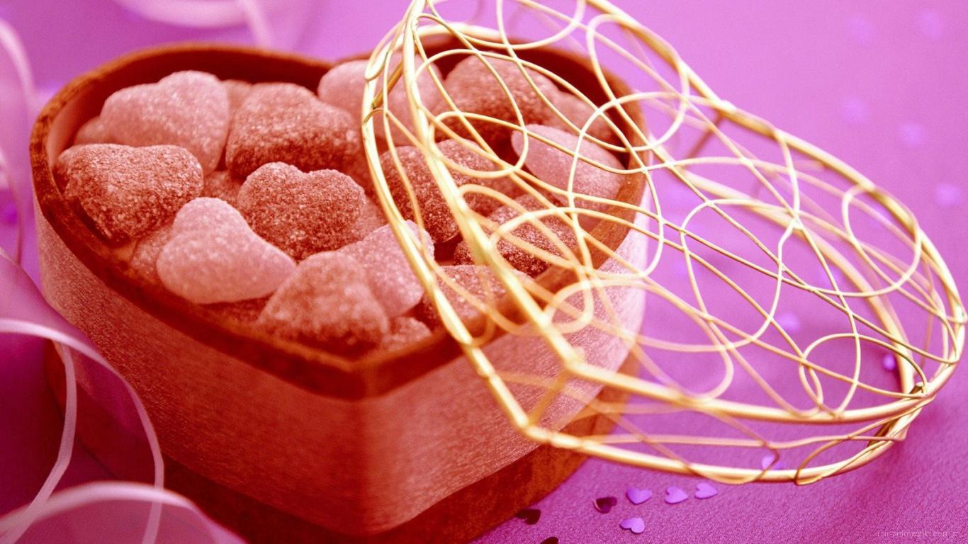 Сердца леденцы на День Святого Валентина 14 февраля - С днем Святого Валентина поздравительные картинки