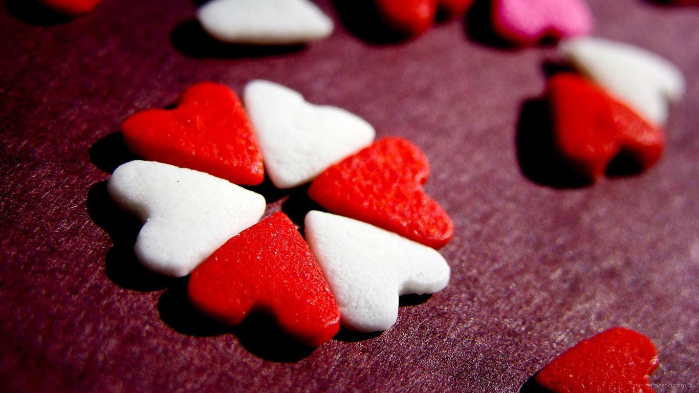 Сердца печеньки на День Святого Валентина 14 февраля - С днем Святого Валентина поздравительные картинки