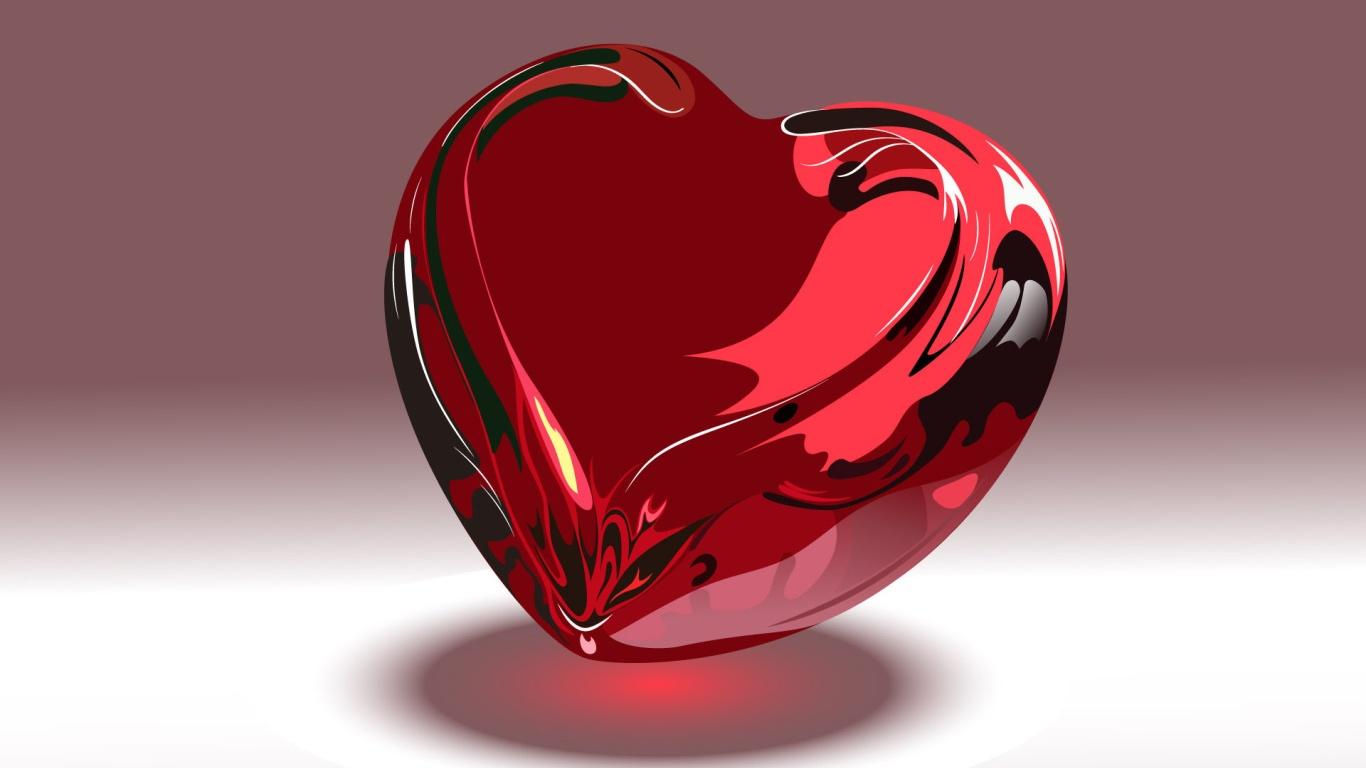 Стеклянное сердце на День Святого Валентина 14 февраля - С днем Святого Валентина поздравительные картинки
