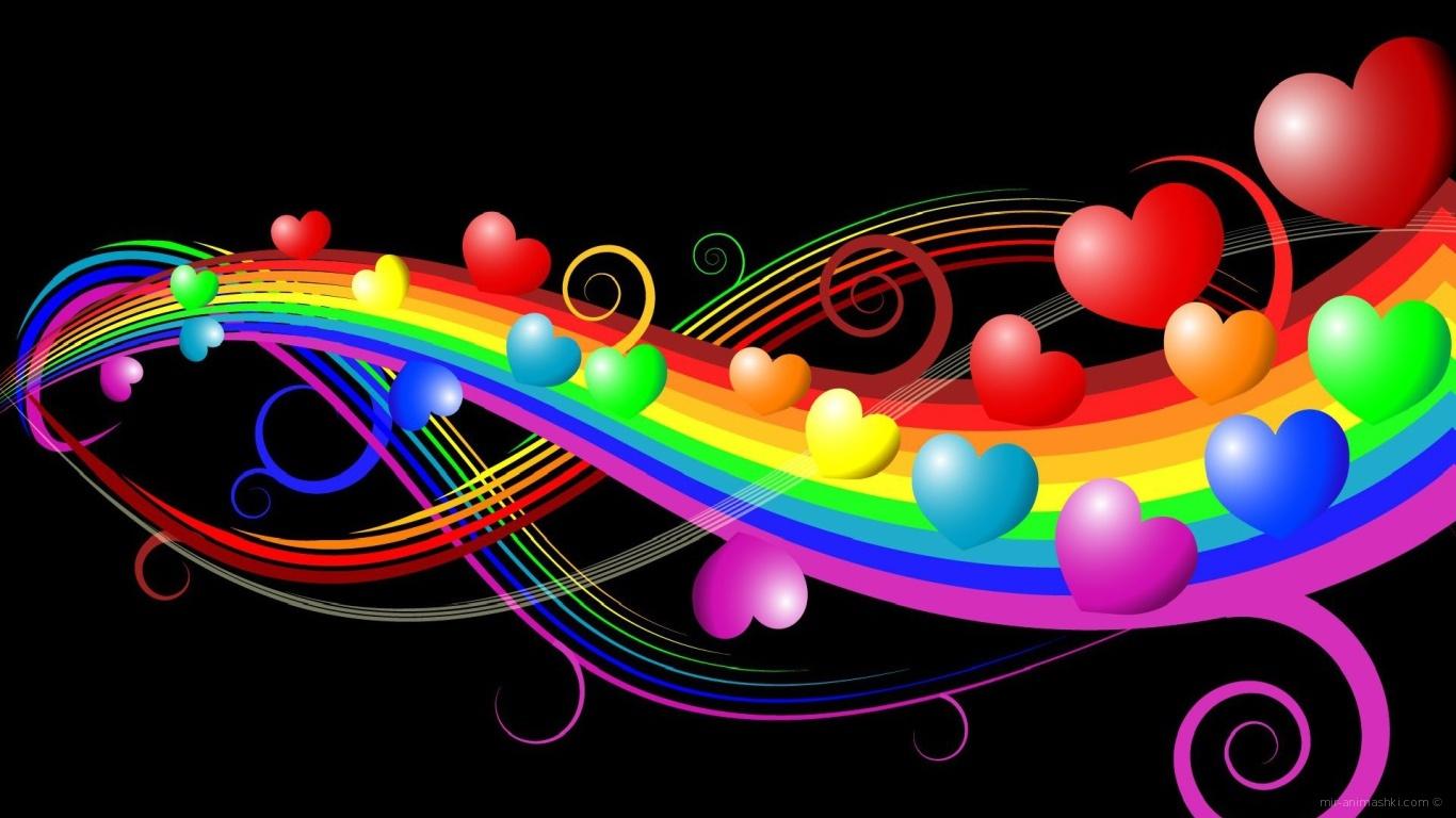 Сердечная симфония на День Святого Валентина 14 февраля - С днем Святого Валентина поздравительные картинки