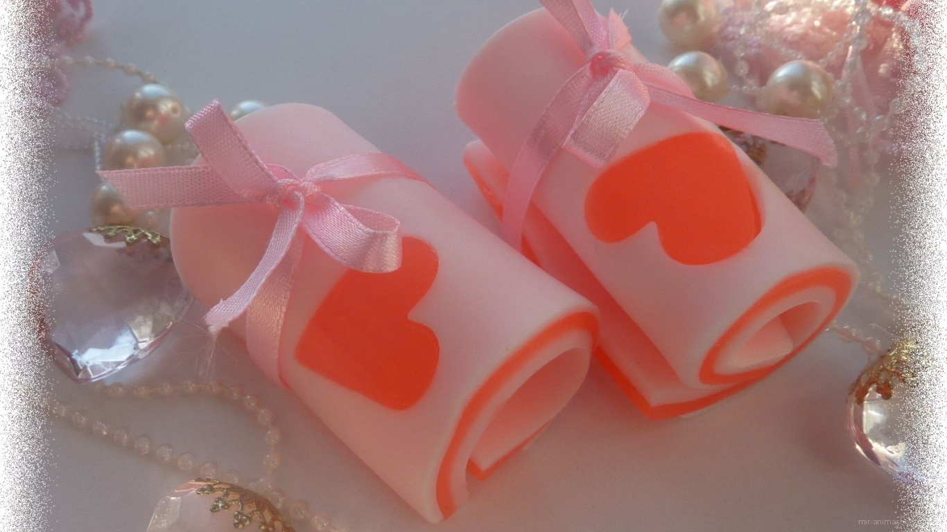 Мыло с сердцем на День Святого Валентина 14 февраля - С днем Святого Валентина поздравительные картинки