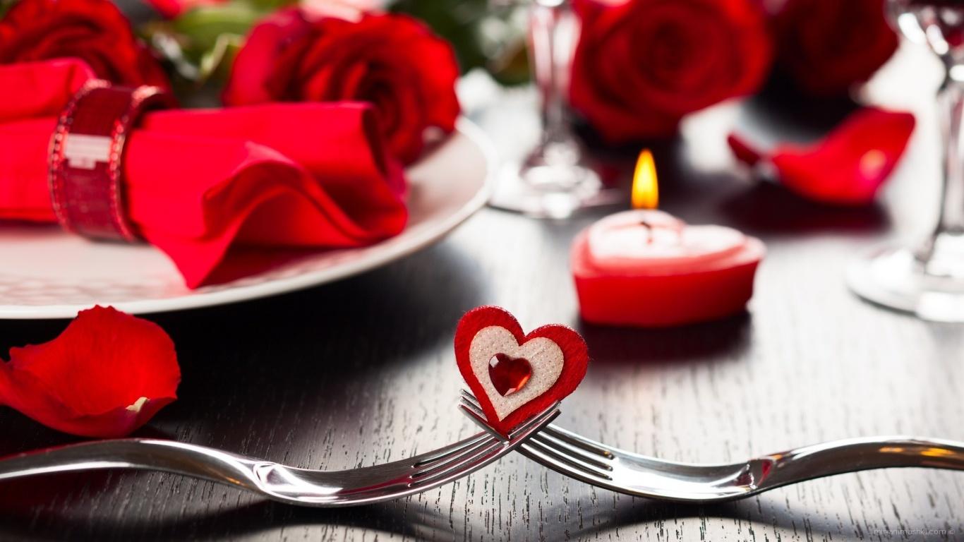 Композиция на День Святого Валентина - С днем Святого Валентина поздравительные картинки