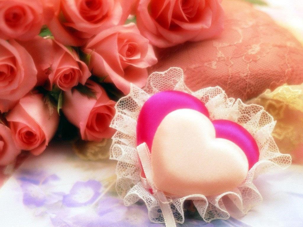 Розы и сердца на День Святого Валентина - С днем Святого Валентина поздравительные картинки