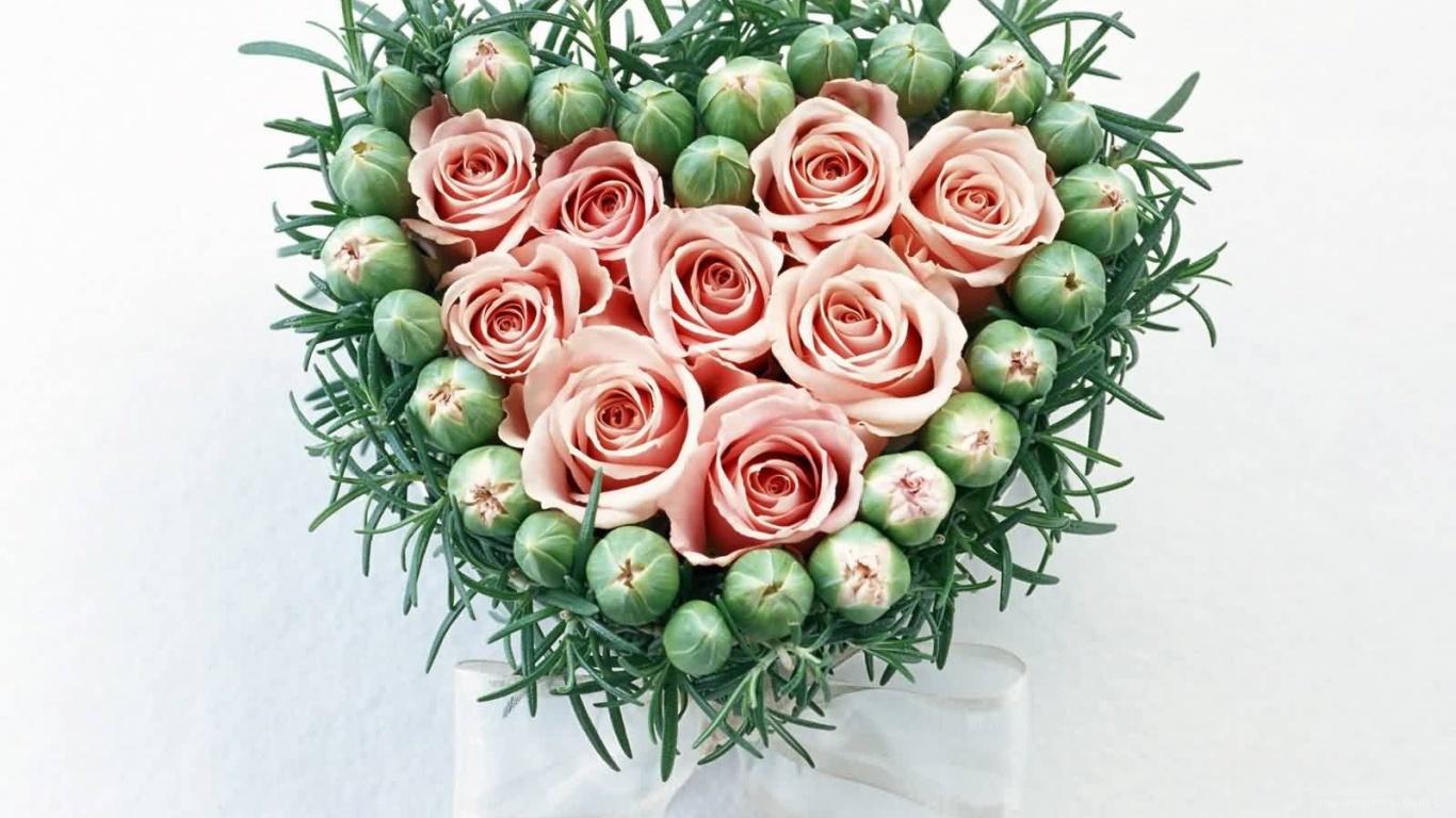 Розы и бутоны на День Святого Валентина - С днем Святого Валентина поздравительные картинки