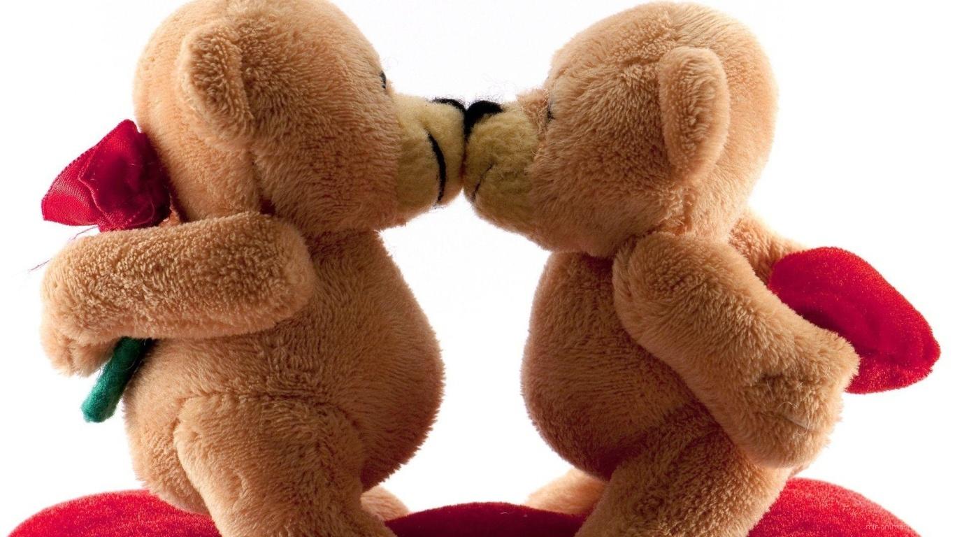 Влюбленные мишки на День Святого Валентина 14 февраля - С днем Святого Валентина поздравительные картинки