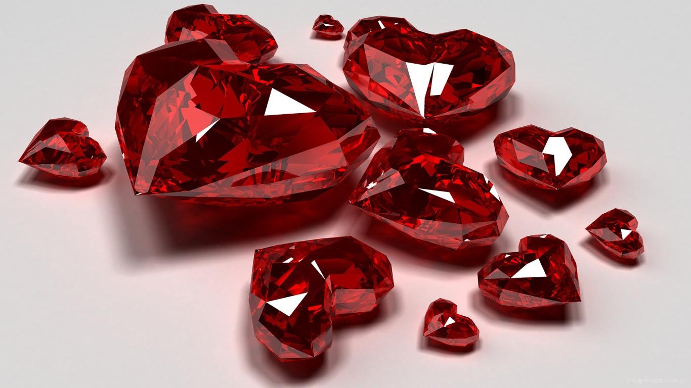 Сердца кристаллы на День Святого Валентина - С днем Святого Валентина поздравительные картинки