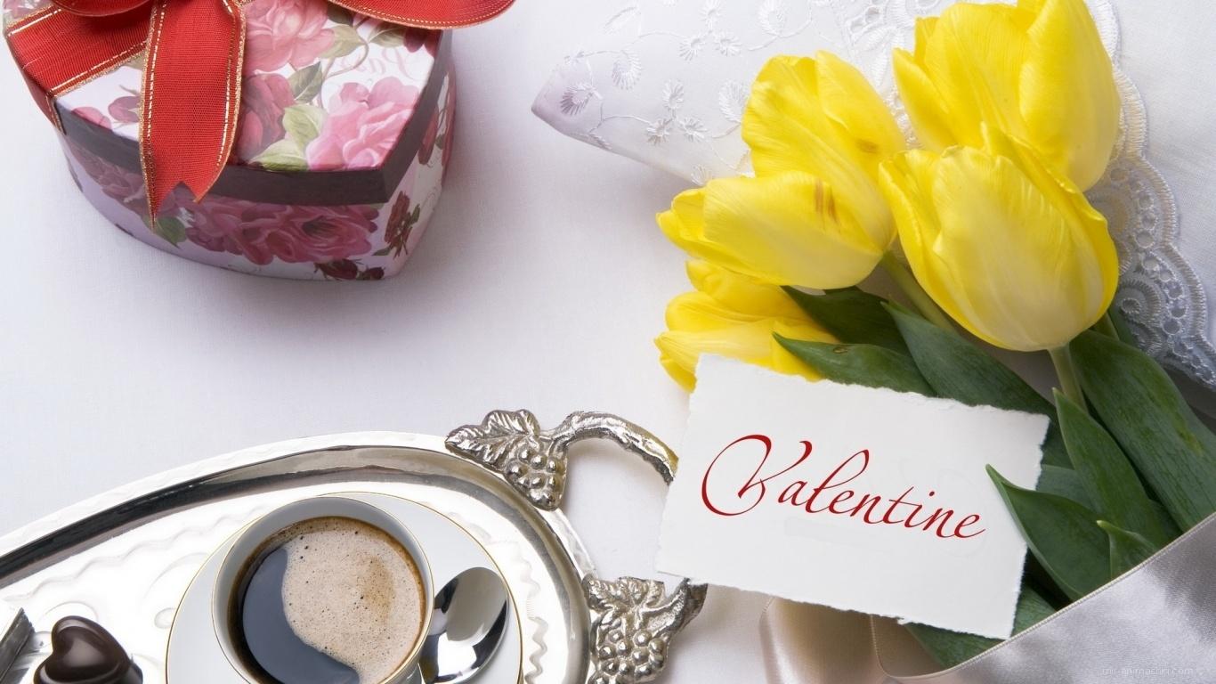 Подарок на День Влюбленных - С днем Святого Валентина поздравительные картинки