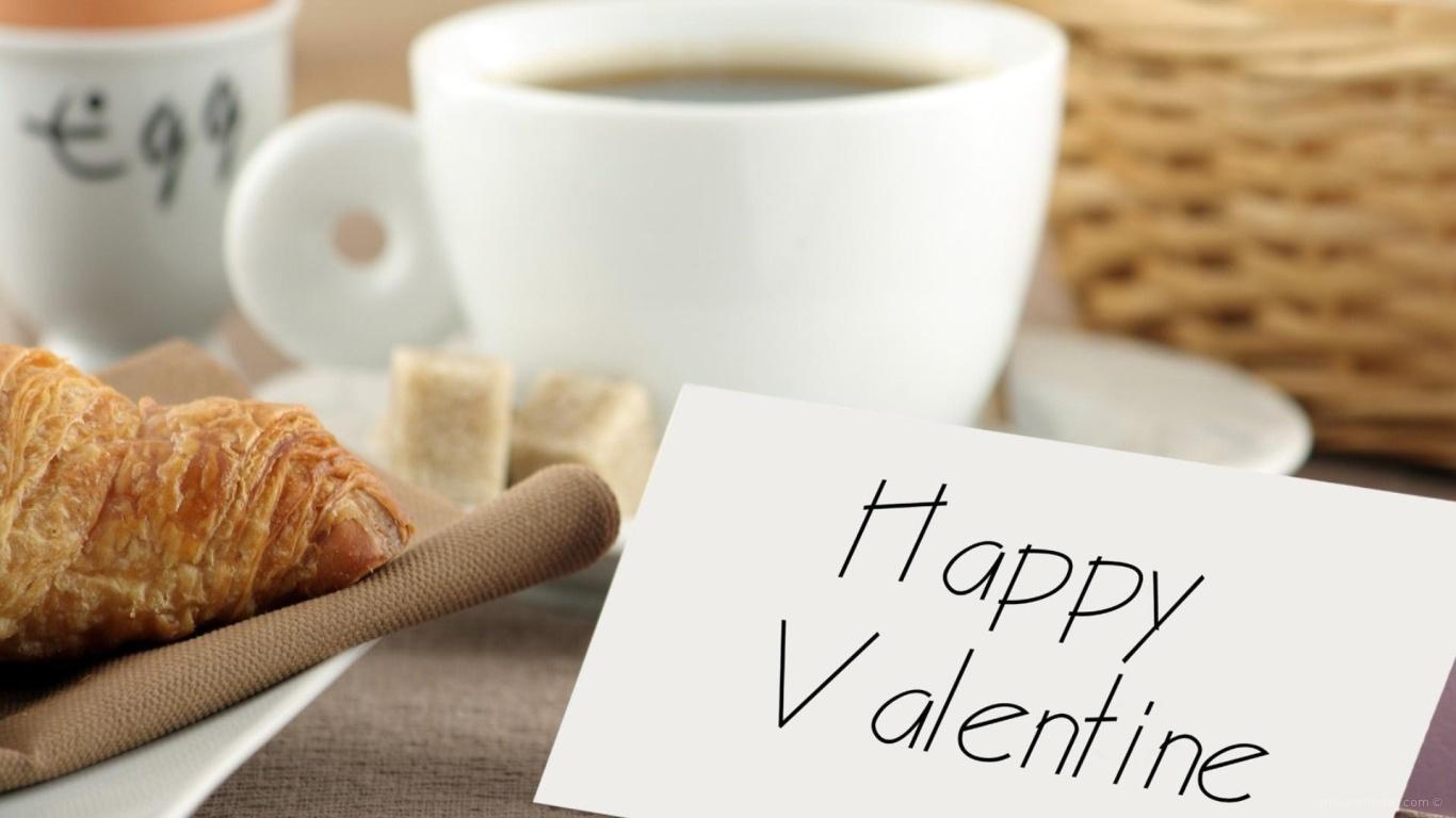 Завтрак для любимой на День Святого Валентина 14 февраля - С днем Святого Валентина поздравительные картинки