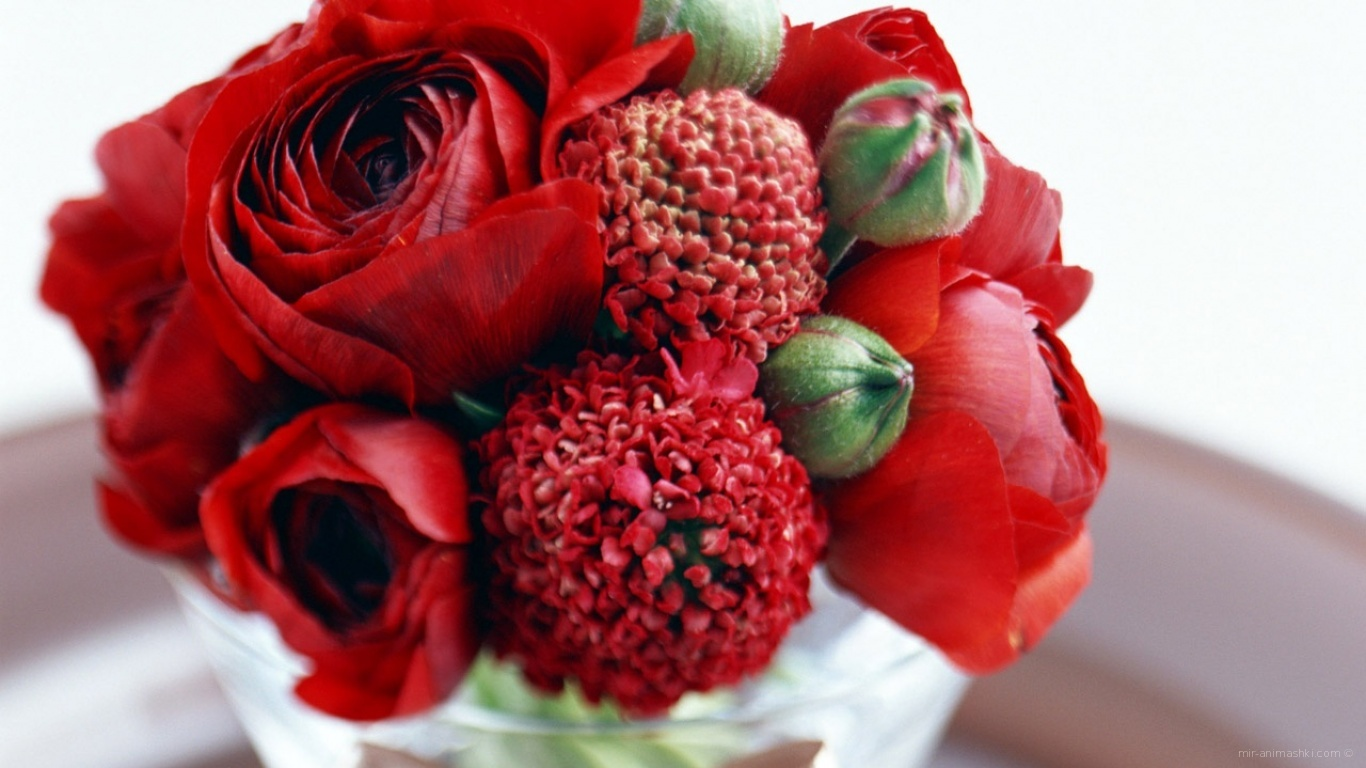 Маленький букет в День Св. Валентина - С днем Святого Валентина поздравительные картинки