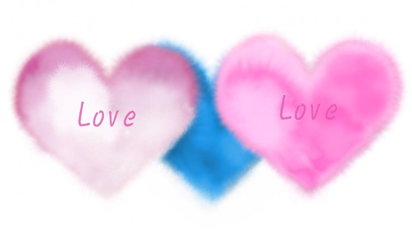 Любовный треугольник - С днем Святого Валентина поздравительные картинки