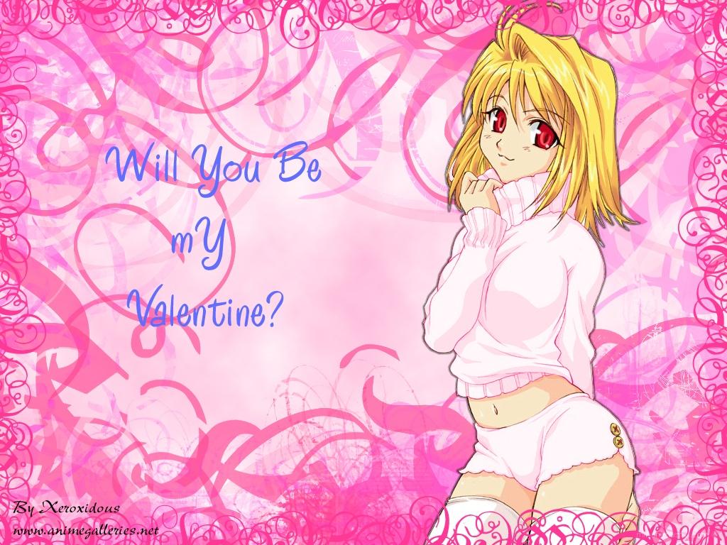Девочка в подарок на День Святого Валентина - С днем Святого Валентина поздравительные картинки