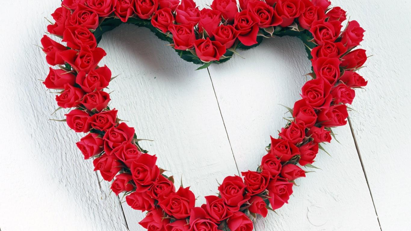 Красивые красные розы День Святого Валентина - С днем Святого Валентина поздравительные картинки