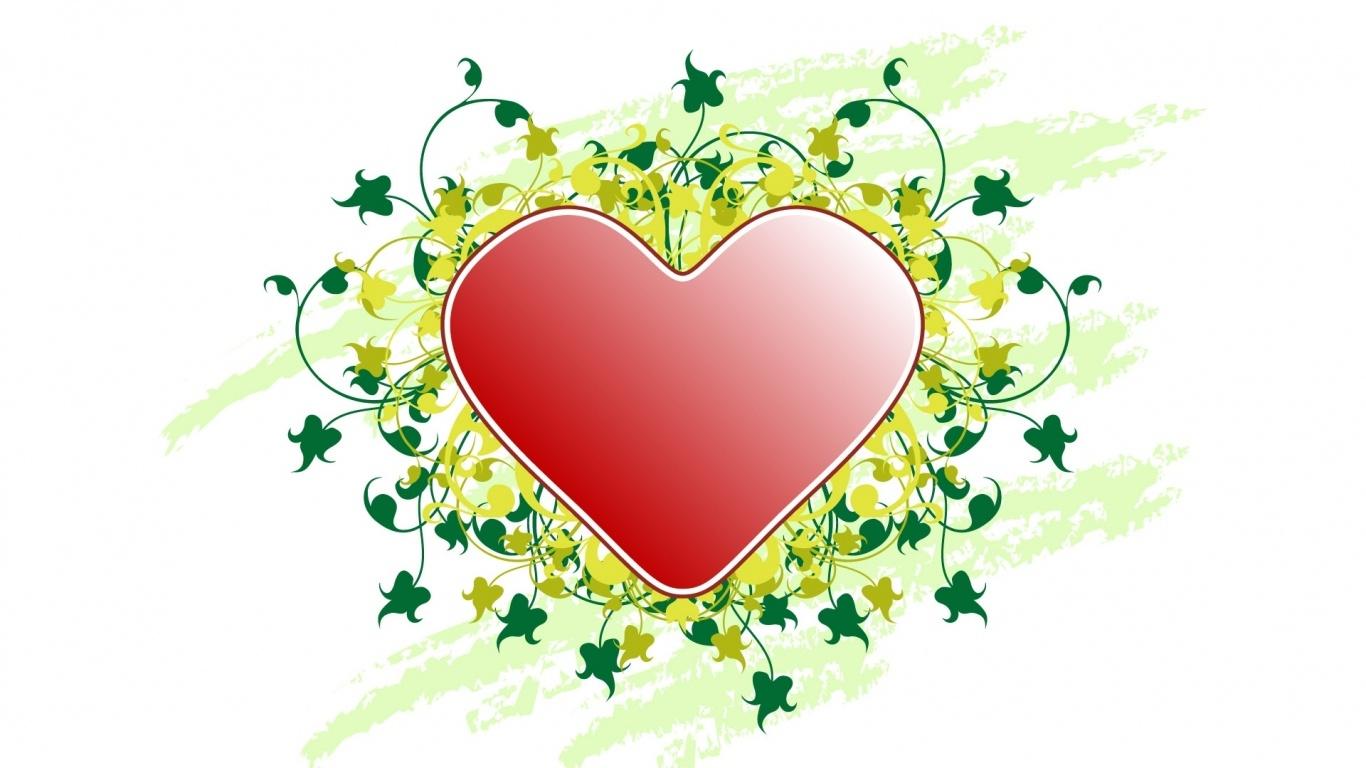 Красивое сердечко на День Св. Валентина - С днем Святого Валентина поздравительные картинки
