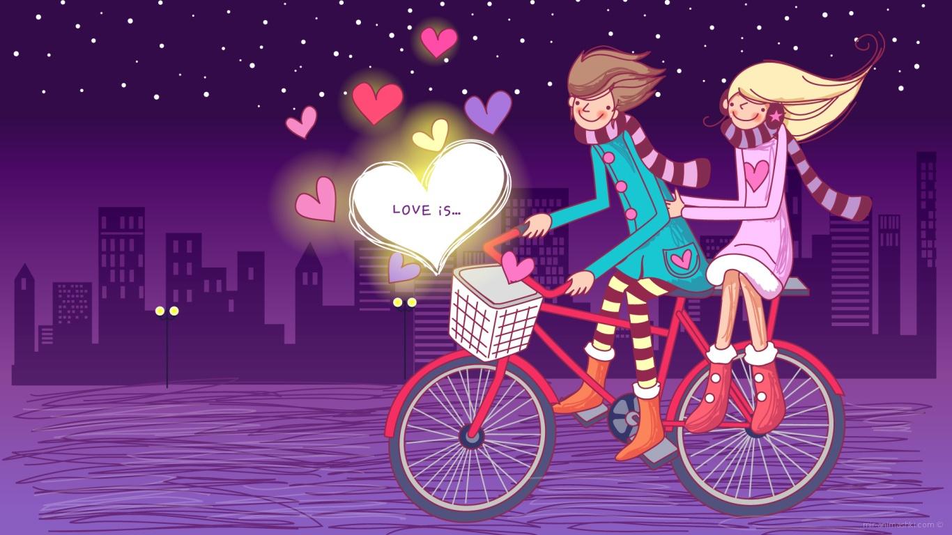 Счастливые люди в День Святого Валентина - С днем Святого Валентина поздравительные картинки