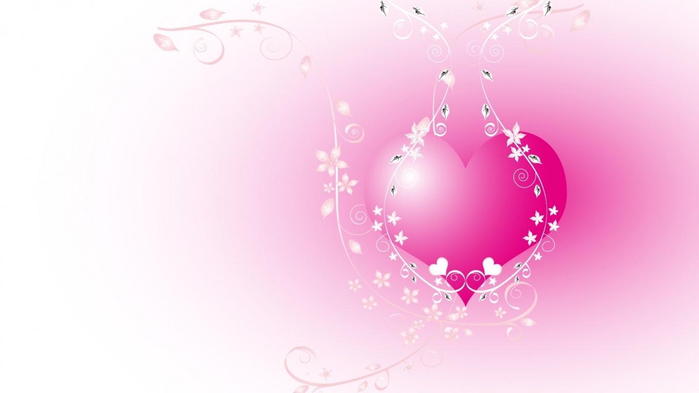 Розовое сердечко на День Влюбленных - С днем Святого Валентина поздравительные картинки
