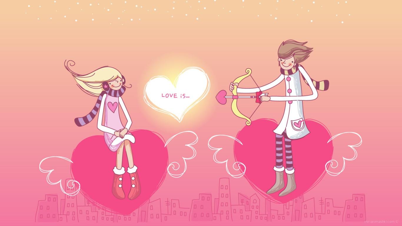 Верхом на сердцах в День Святого Валентина - С днем Святого Валентина поздравительные картинки