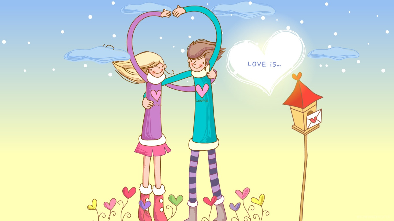 Настоящая любовь в День Святого Валентина - С днем Святого Валентина поздравительные картинки