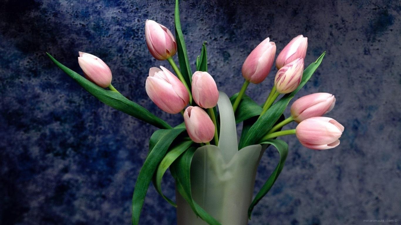 Розовый букет на 8 марта - C 8 марта поздравительные картинки