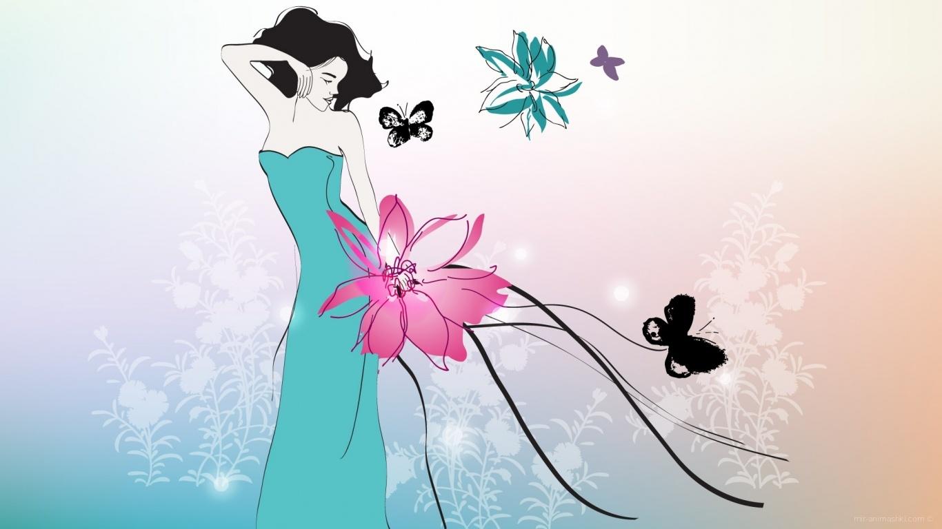 Нежный цветок на 8 марта - C 8 марта поздравительные картинки