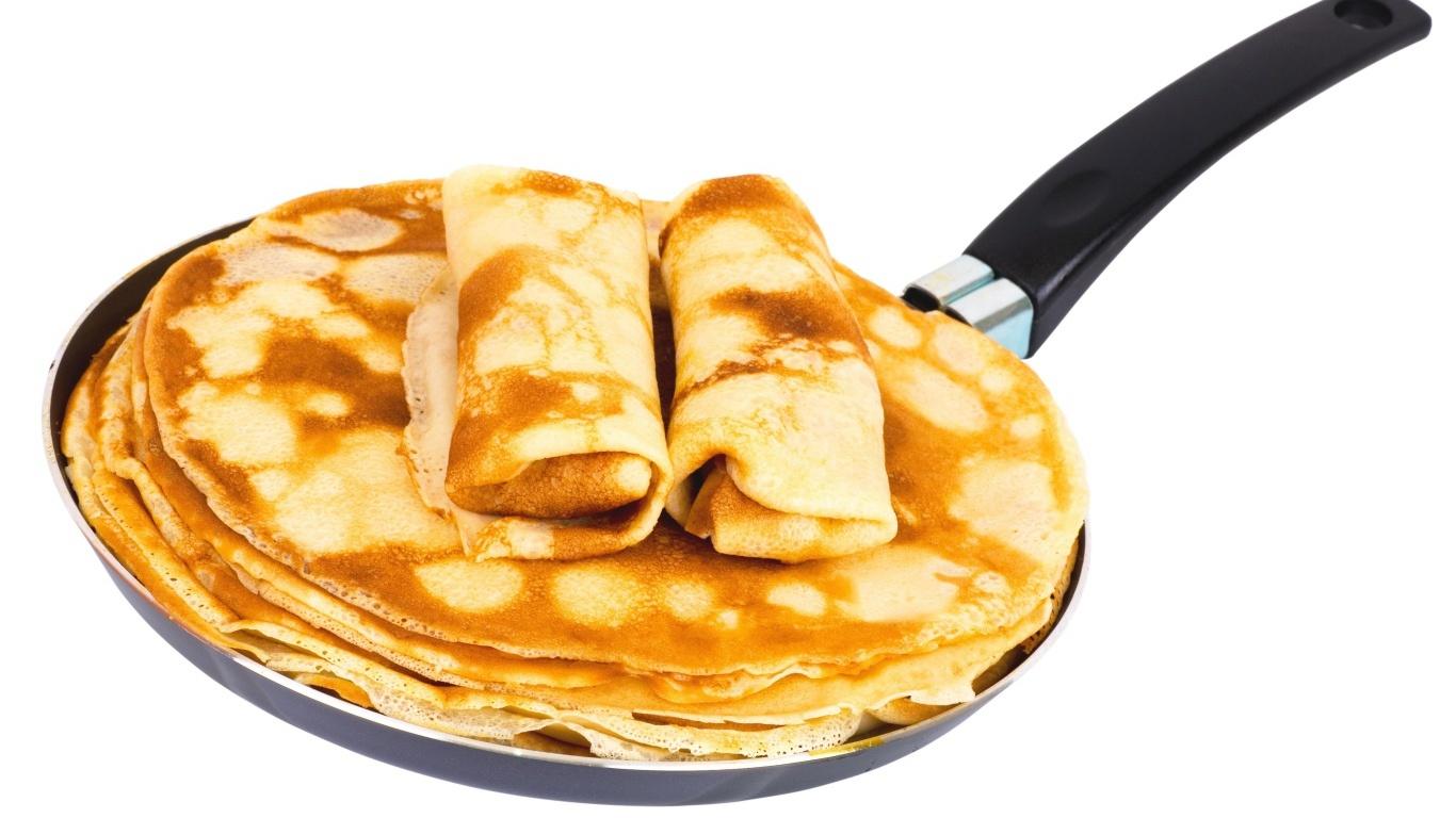 Сковорода блинов на Масленицу - С Масленицей поздравительные картинки