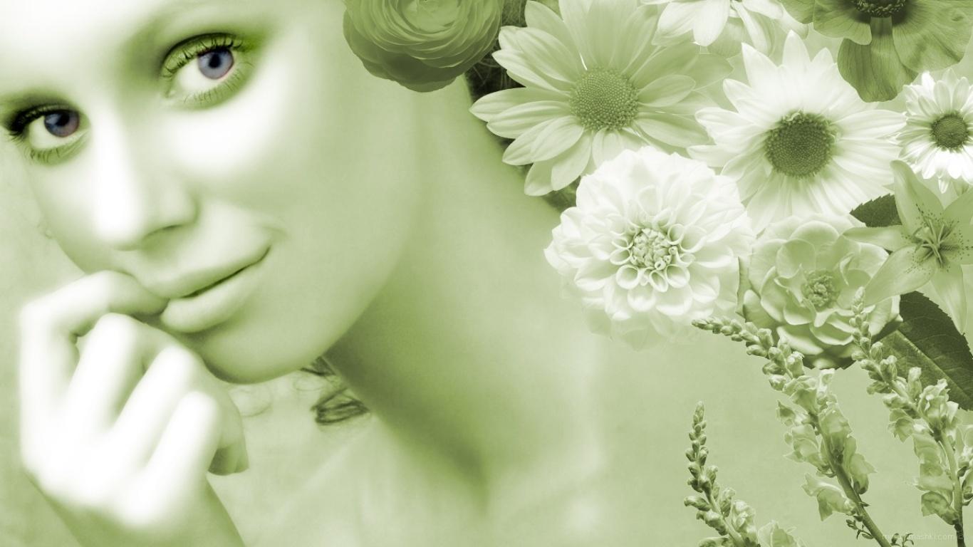 Красивая девушка в день 8 марта - C 8 марта поздравительные картинки