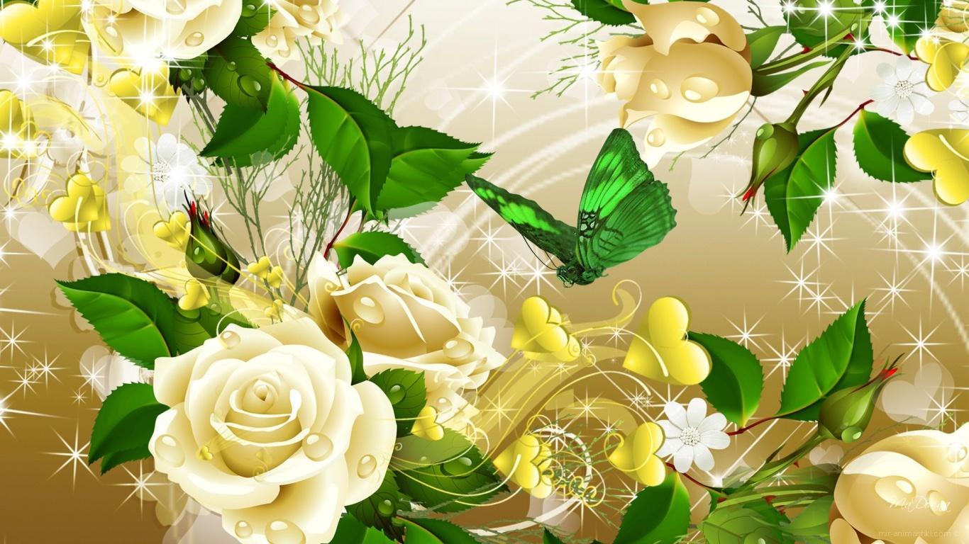 Жёлтые розы, картинка на восьмое марта - C 8 марта поздравительные картинки