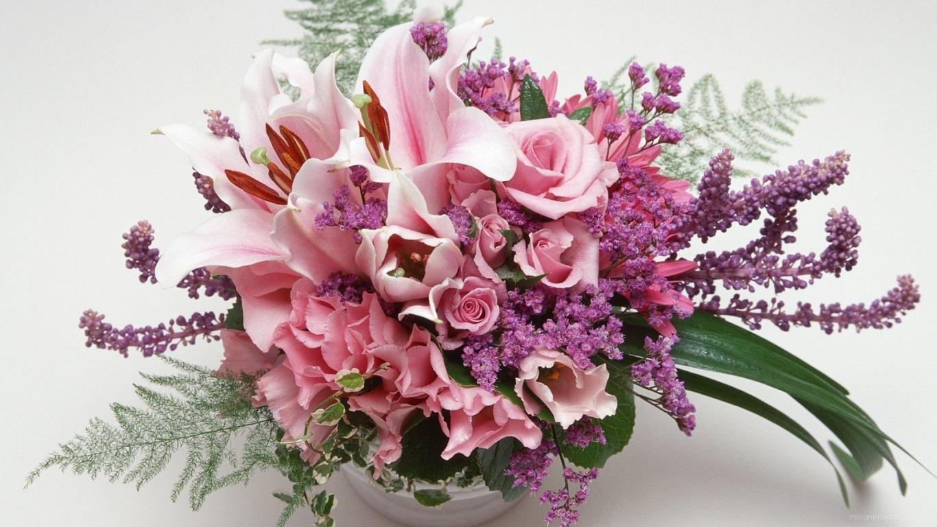 Цветочная ваза на 8 марта - C 8 марта поздравительные картинки