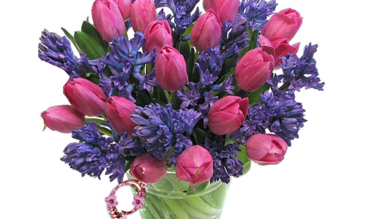 Ваза с цветами на 8 марта - C 8 марта поздравительные картинки