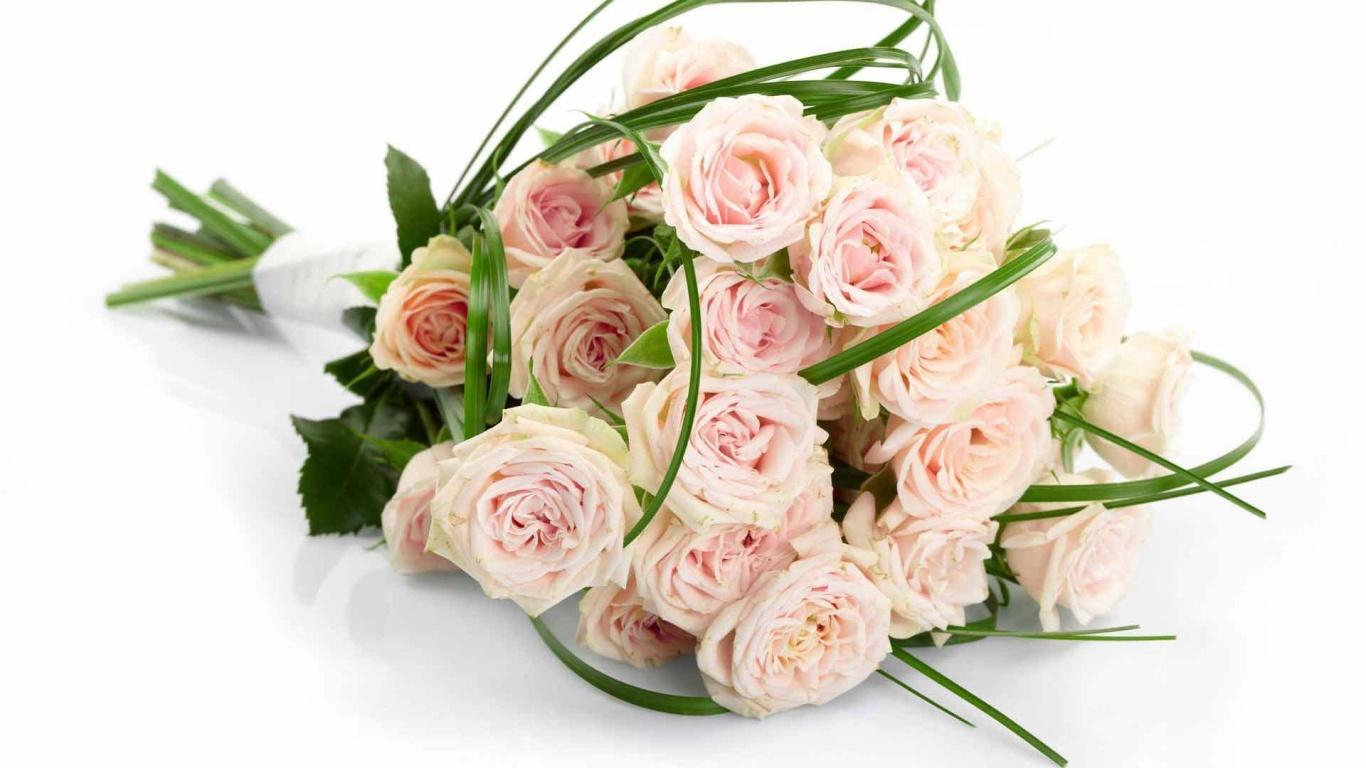 Нежный розовый букет цветов девушке на  8 марта - C 8 марта поздравительные картинки