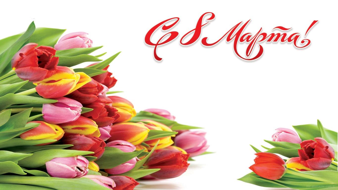 Букеты на 8 марта - C 8 марта поздравительные картинки