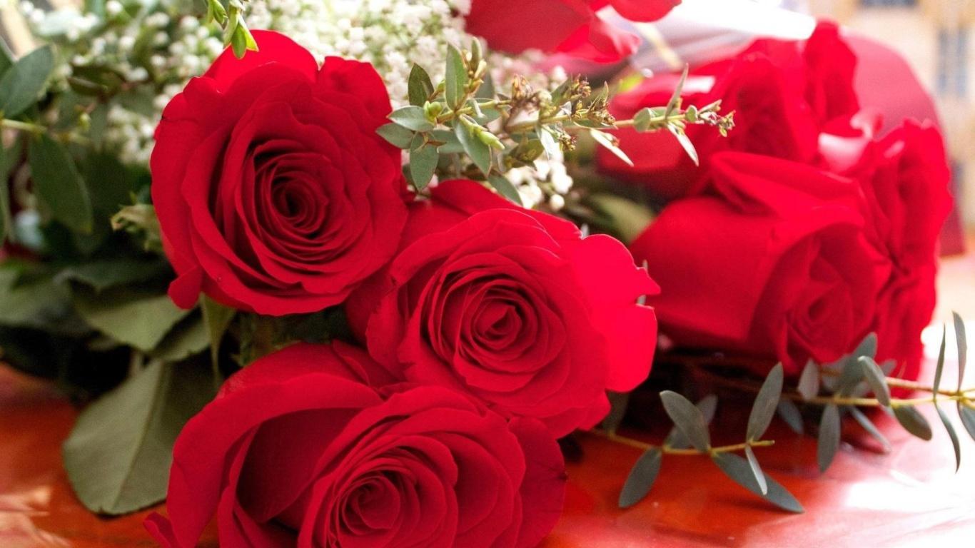Открытка для девушки с розами, открытка
