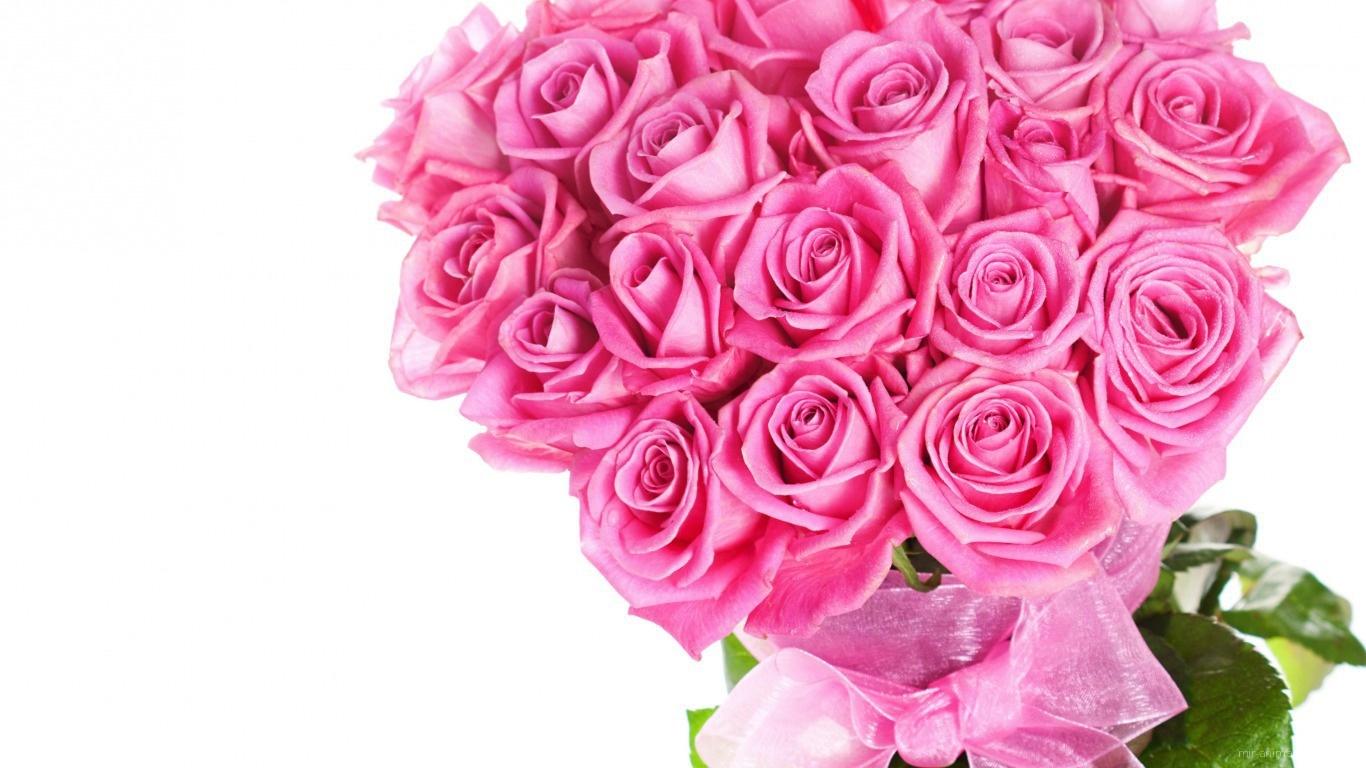 Красивый букет розовых роз на 8 марта - C 8 марта поздравительные картинки