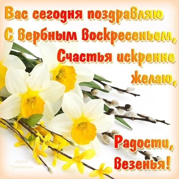 Вас сегодня поздравляю С Верным Воскресеньем! - С Вербным Воскресеньем поздравительные картинки