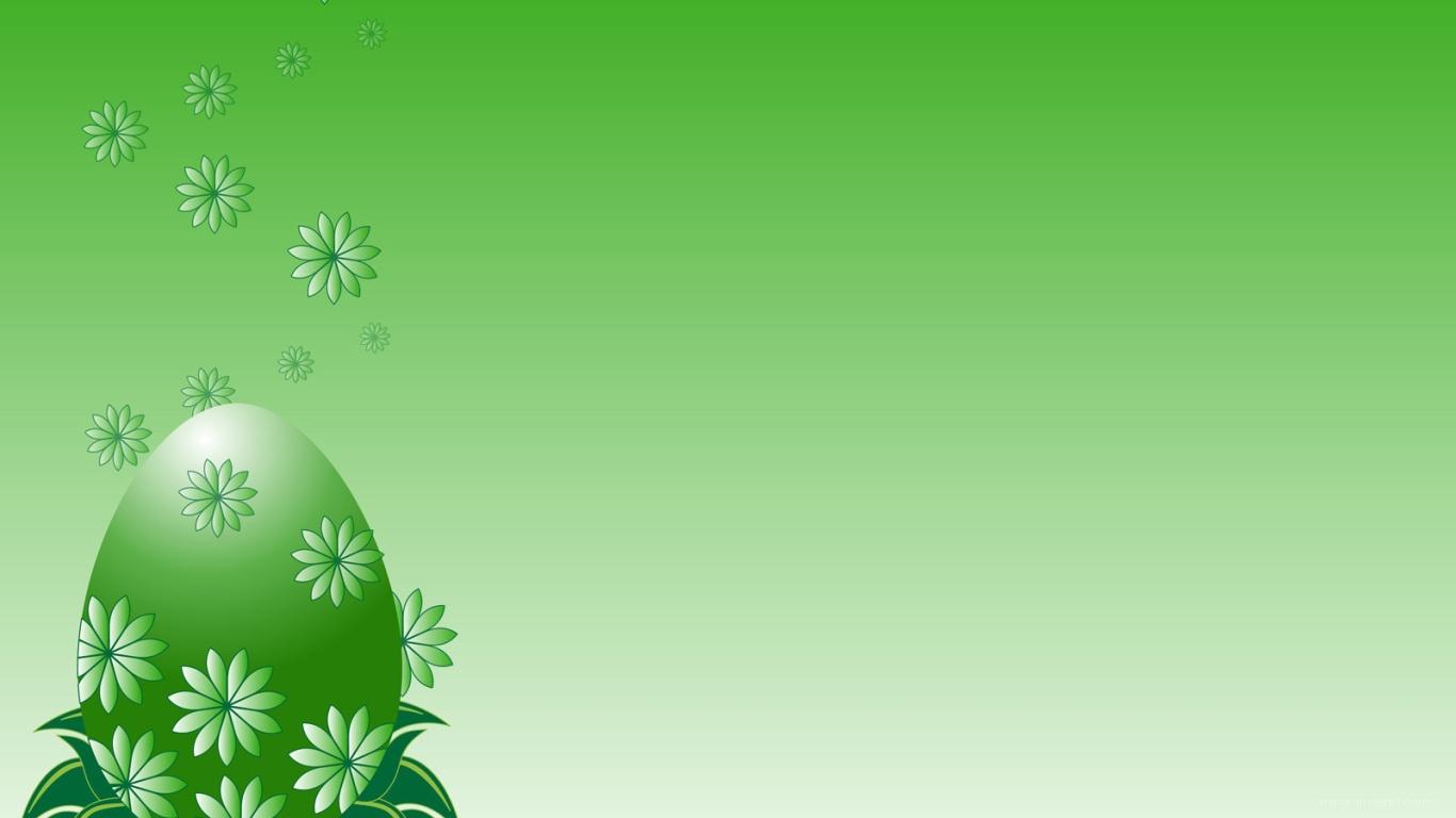 Зеленое яйцо на Пасху - C Пасхой поздравительные картинки