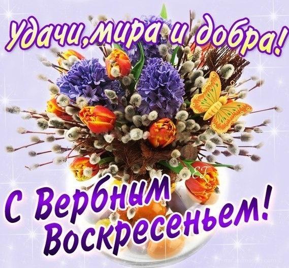 С прекрасным Верным Воскресеньем! - С Вербным Воскресеньем поздравительные картинки