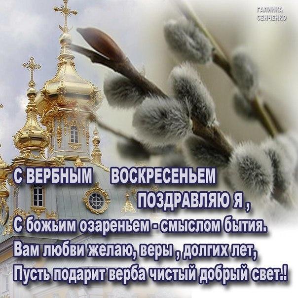 Сегодня, поздравления открытка с вербным воскресением