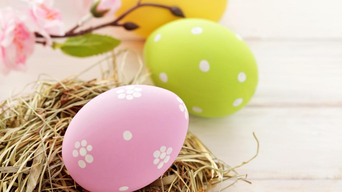 Яйцо на сене на Пасху - C Пасхой поздравительные картинки