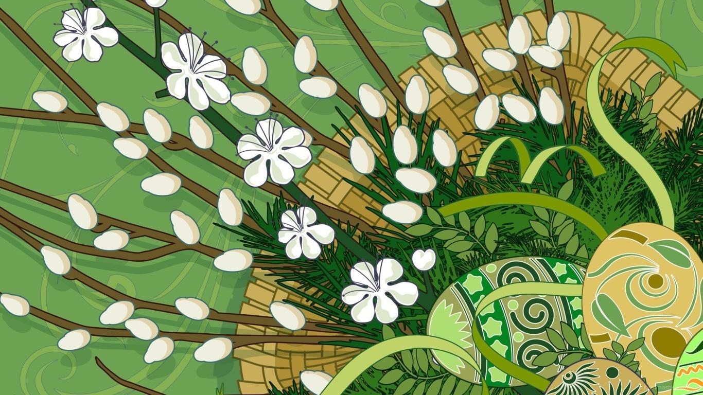 Рисунок с яйцами на Пасху - C Пасхой поздравительные картинки