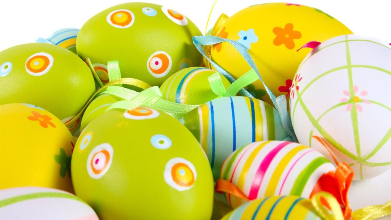Раскрашенные яйца на Пасху - C Пасхой поздравительные картинки