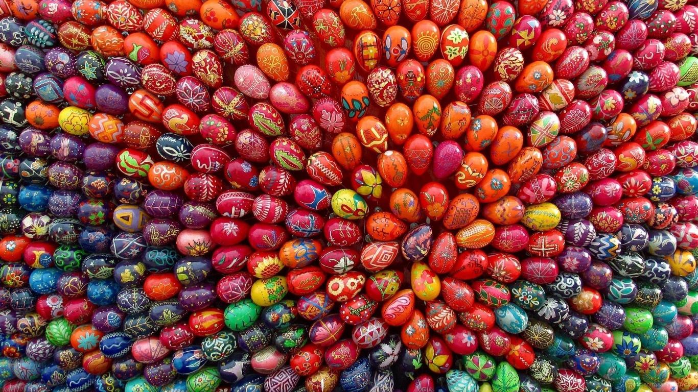 Орнамент из яиц на Пасху - C Пасхой поздравительные картинки