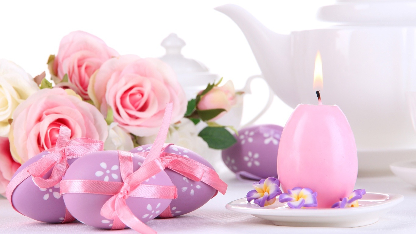 Розовый пасхальный букет на Пасху - C Пасхой 2017 поздравительные картинки