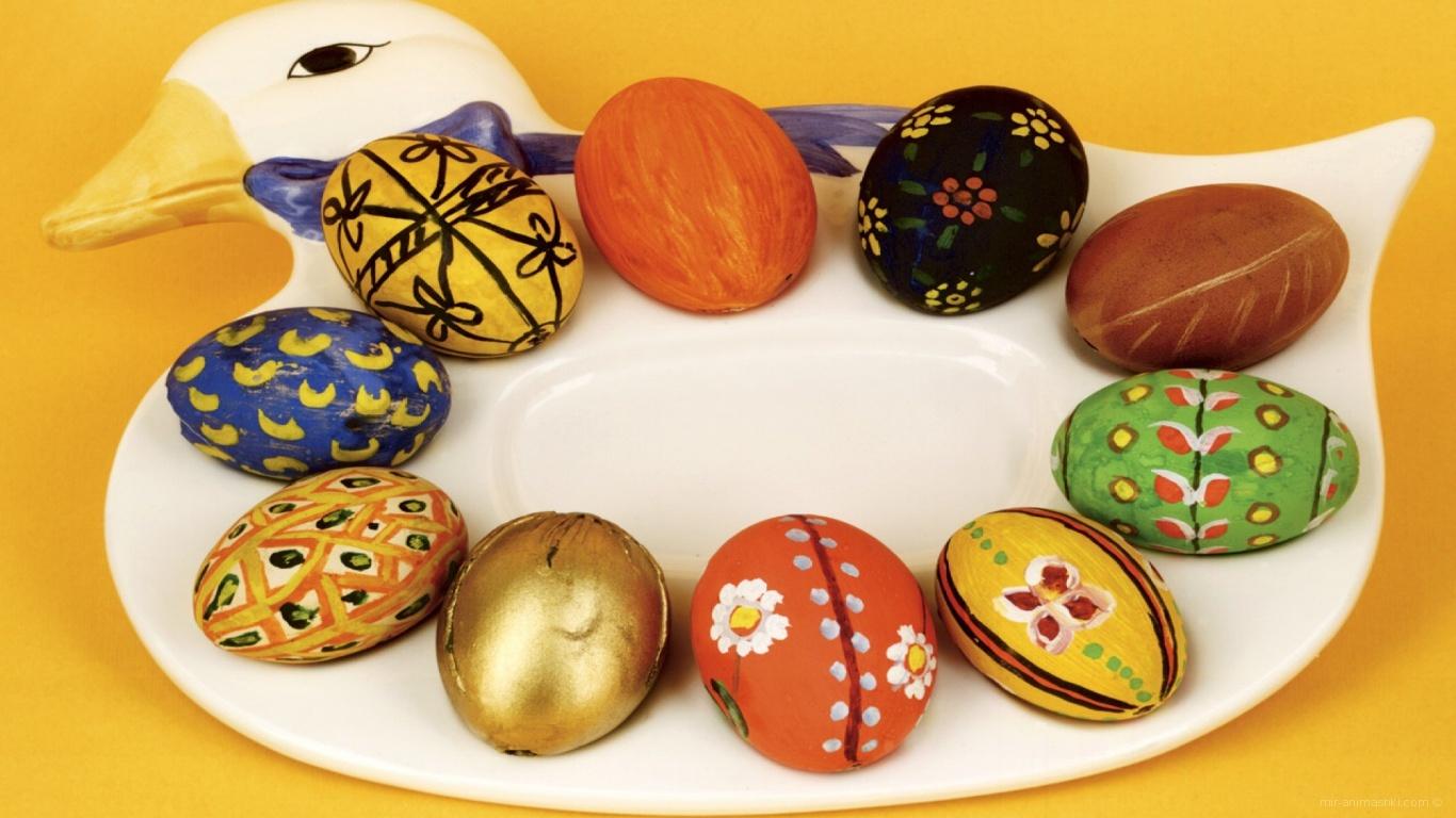Яйца на утке на Пасху - C Пасхой поздравительные картинки