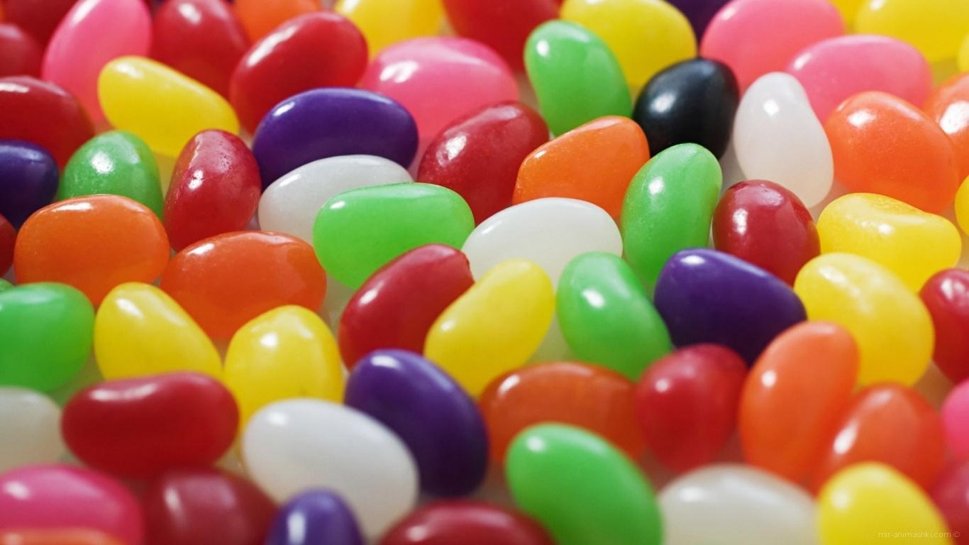 Разноцветные конфеты - C Пасхой 2017 поздравительные картинки