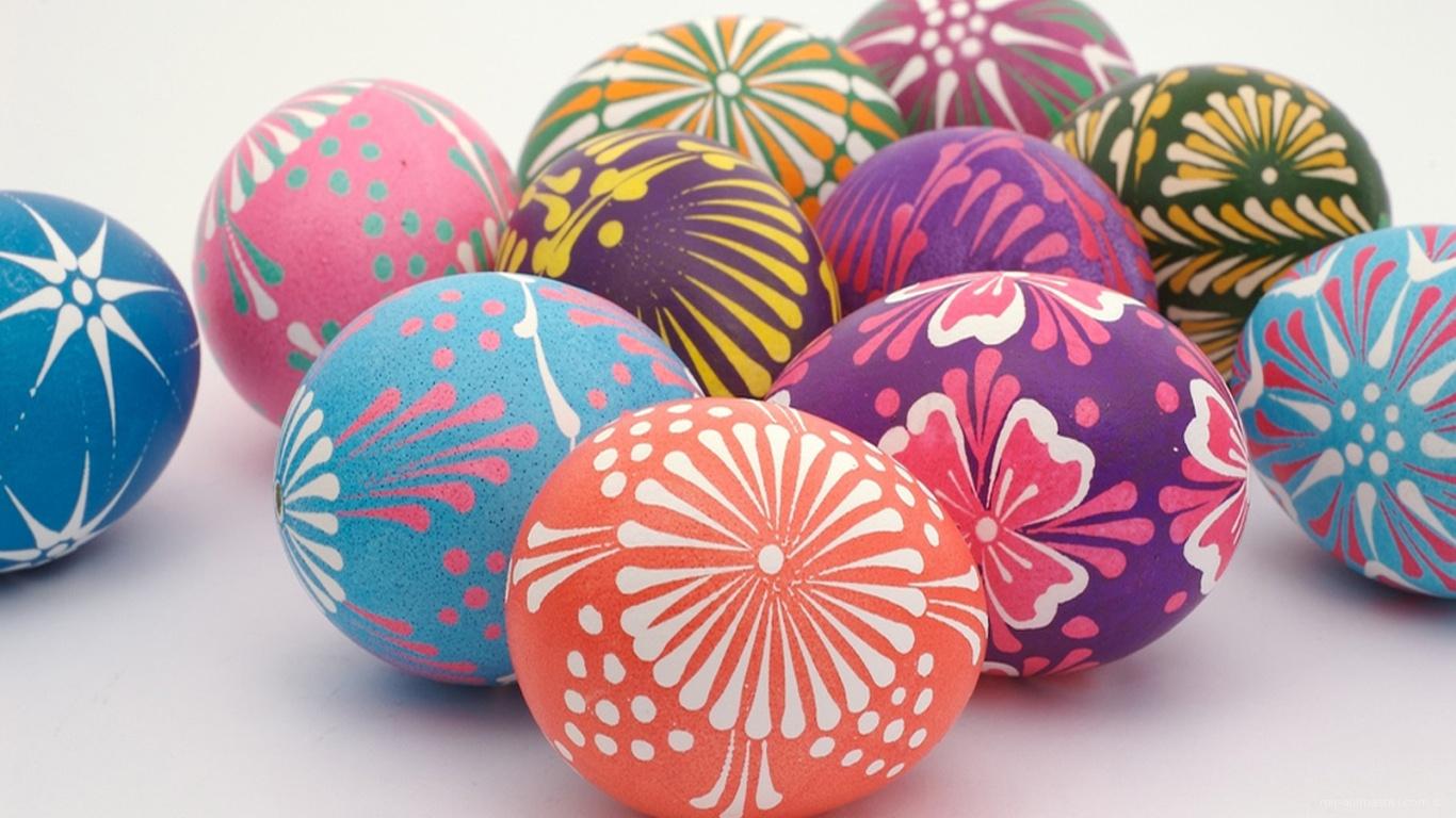 Солнечный орнамент на яйцах на Пасху - C Пасхой поздравительные картинки